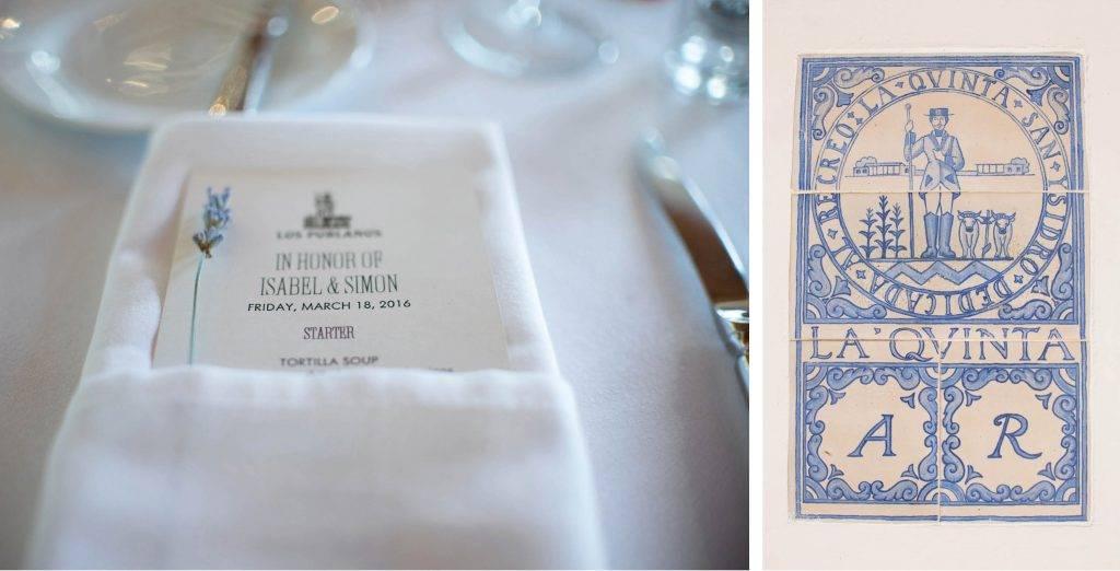 Weddings at Los Poblanos Isabel & Simon Details