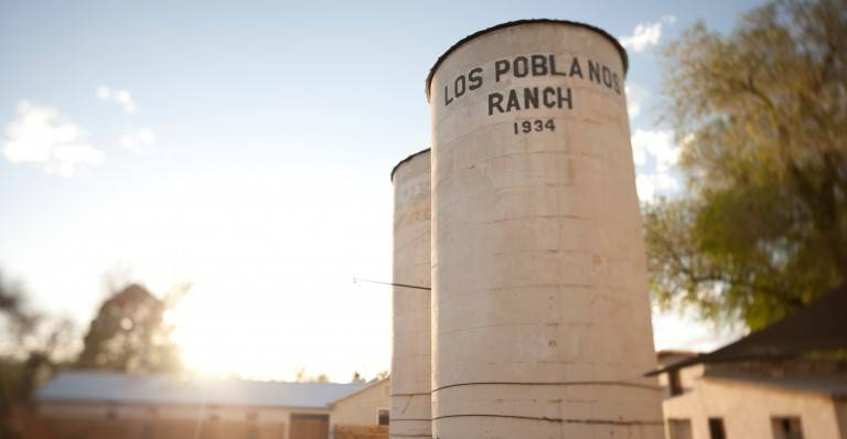 Los Poblanos Silos at sunset - Photo by Josh Hailey