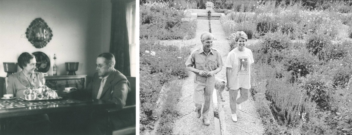Ruth and Albert Simms (left) made Los Poblanos into the beautiful and timeless property that it is.  Armin and Penny Rembe (right, in 1989) have worked tirelessly to preserve the land, architecture, and legacy of Los Poblanos.
