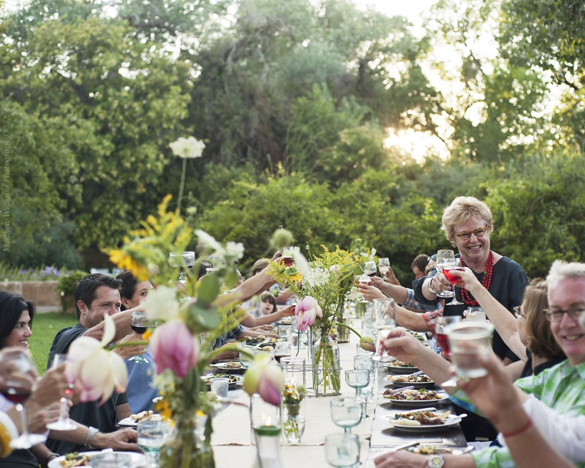 long table dinner with penny rembe