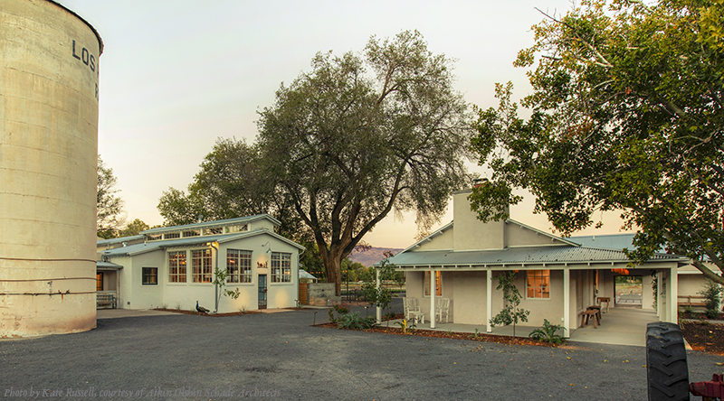 front desk and campo courtyard