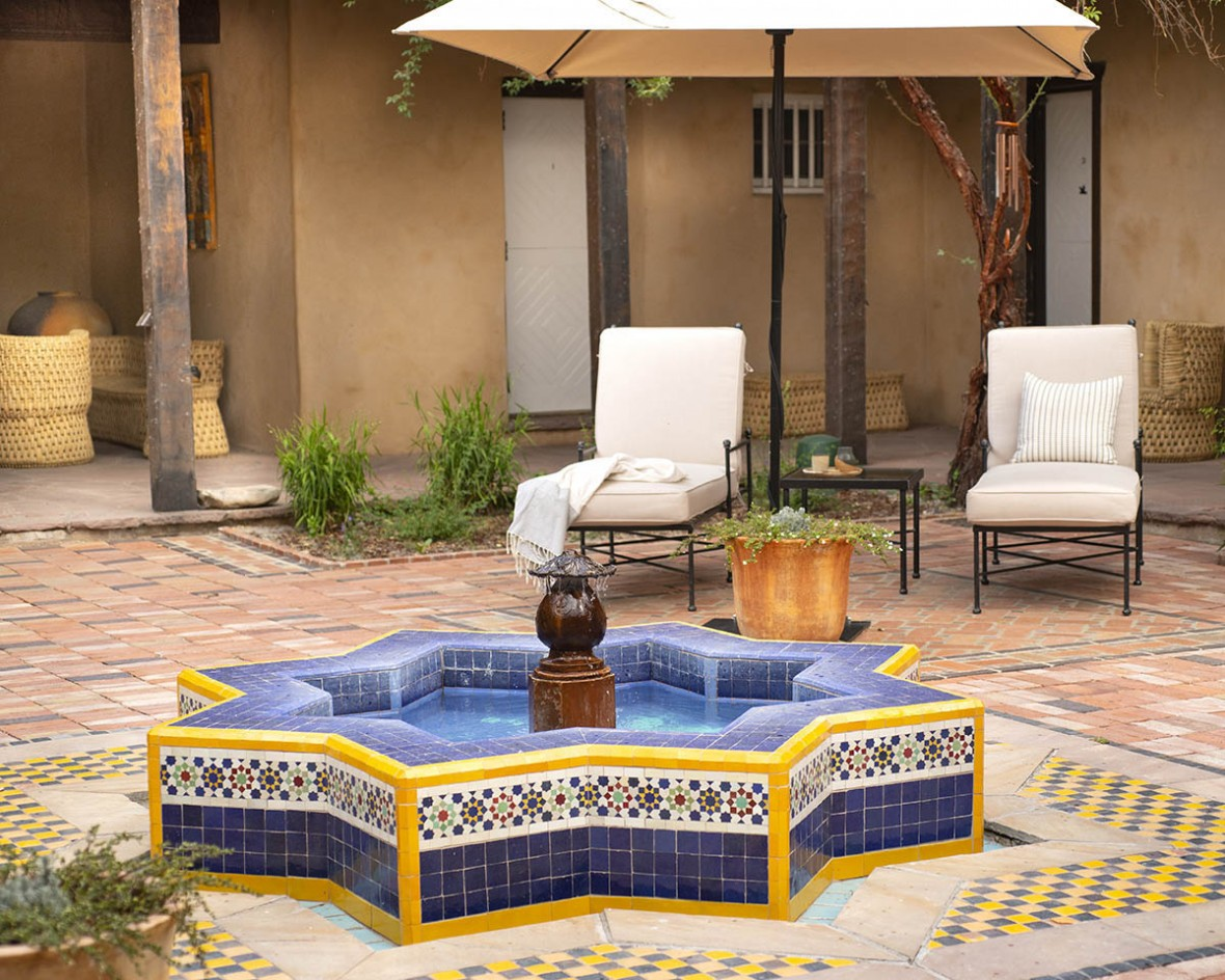 hacienda spa courtyard