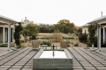 field room courtyard fountain